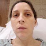 Exhausted Nicki post twin birth #3